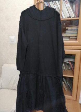 Свитшот-платье батал