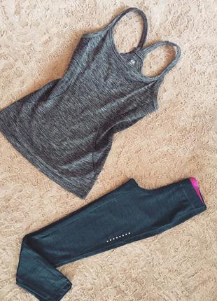Майка h&m для спорта спортивный серый топ для йоги, фитнеса и спорта