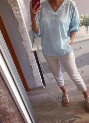 Стильная голубая воздушная блуза от bodyflirt , блузка , рубашка