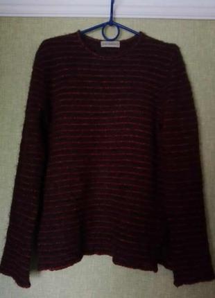 Теплый пушистый свитер травка в полоску от aldo
