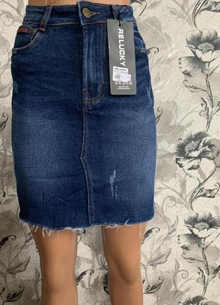 Юбка джинсовая. качество люкс