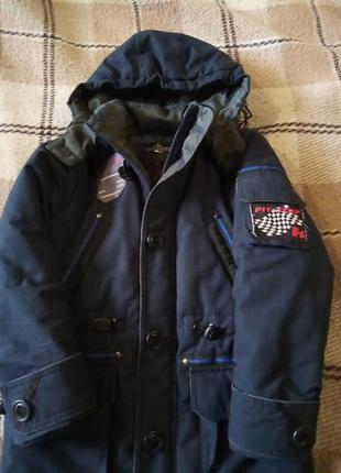 Удлинненая зимняя куртка