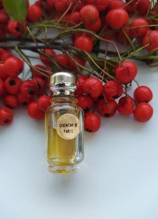 Givenchy iii, винтажная миниатюра, parfum/чистые духи, 2 мл
