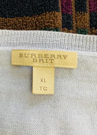 Свитер мужской burberry, 100% шерсть. размер xl