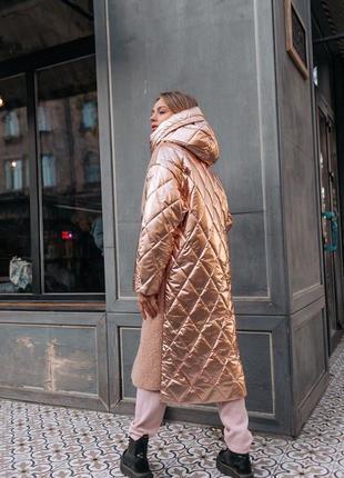 Теплий пуховик пальто