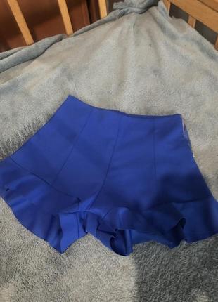 Сині шорти з рюшками