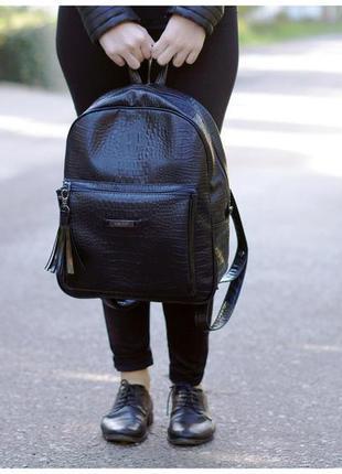 Рюкзак harvest - croco, black
