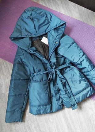 Куртка демисезонная, осенняя на синтепоне, под пояс