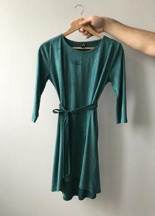 Замшева сукня. замшевое платье.