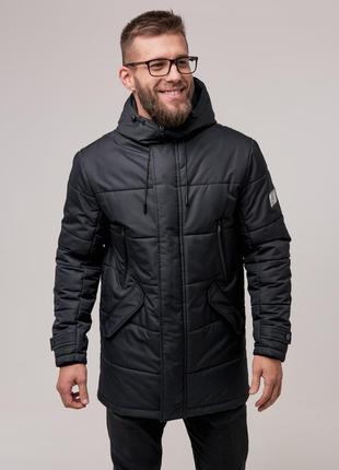Мужская теплая зимняя куртка (черная) чоловіча тепла зимова куртка (чорна)