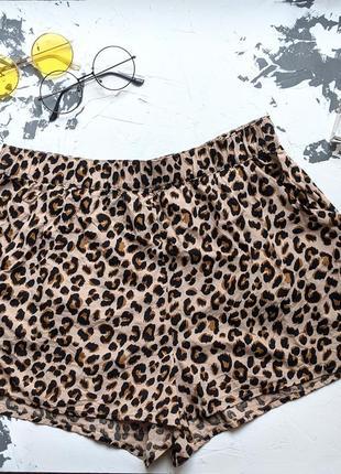 Шорты h&m леопардовые / шорти леопард m eur 38