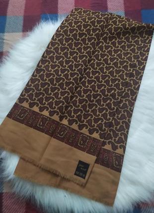 Теплый мужской шарф, 100% шерсть