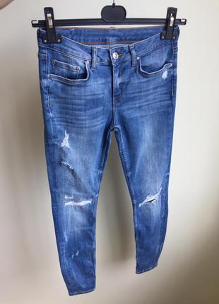 Джинсы zara premium denim