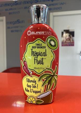Tropical fruit крем для загара с тингл (разогревающим) эффектом и сильным бронзатором