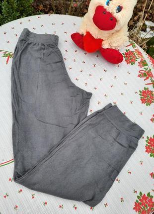 Серые флисовые штаны