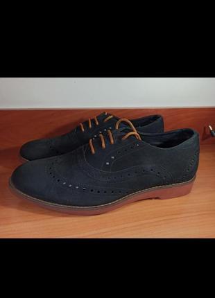 Туфли броги новые нубук  42 размер