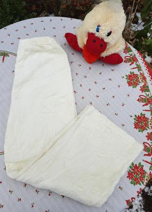 Плюшевые пижамные штаны кремового цвета
