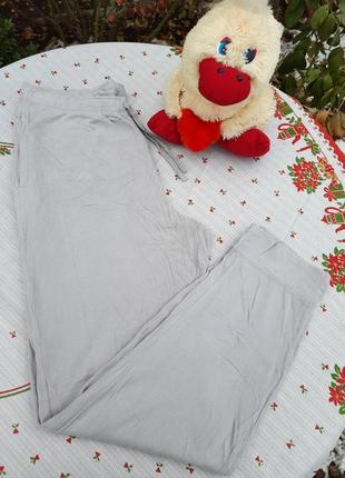 Флисовые светло серые штаны