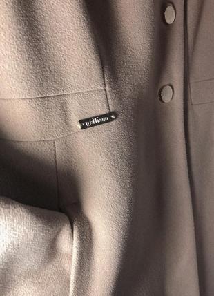 Кашемировое утеплённое пальто