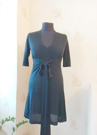Натуральное теплое платье, туника, шерсть мериноса, греческий стиль, шикарное декольте