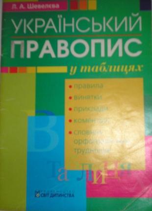 """Учебник """"украинское правописание в таблицах"""""""