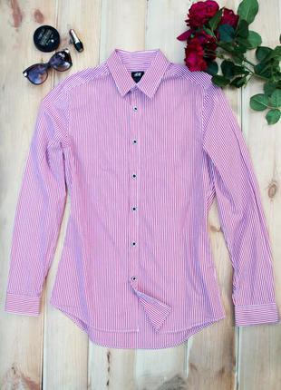 Полосатая модная рубашка  h&m