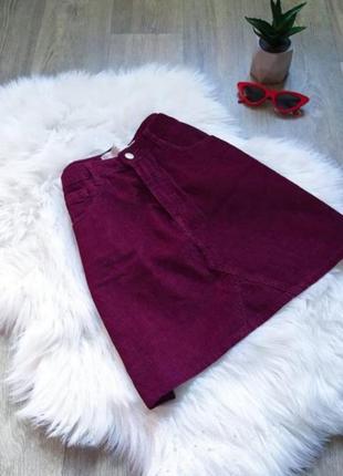 Бархатная юбочка с карманами 😍
