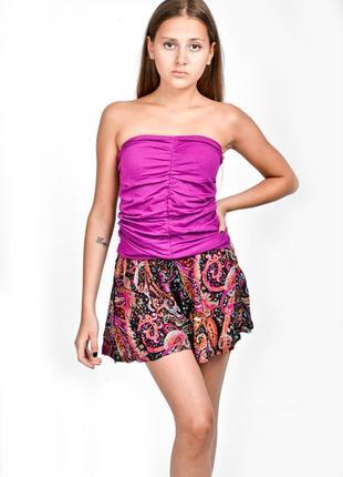 Яркая юбка-шорты bershka