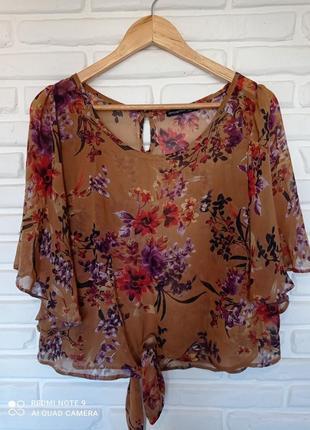 Шифоновая блуза с прнтом
