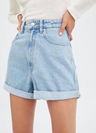 Джинсовые шорты мом высокая посадка джинсові шорти мом висока талія