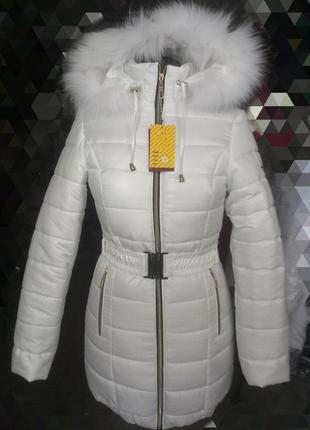 Зимняя куртка,пуховик,с натуральным мехом, размер 42,есть расцветки.