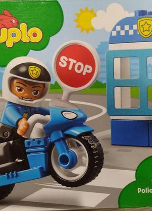 Конструктор lego duplo 10900 полицейский мотоцикл 8 деталей