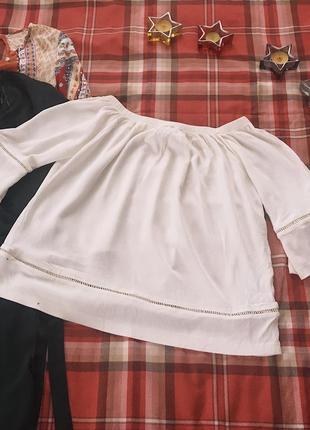 Блуза от m&s с открытыми ключицами
