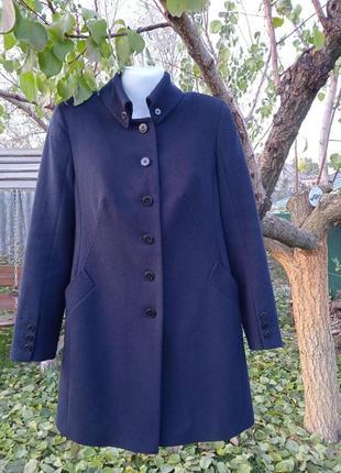 Пальто брендовое синее шерстяное  stella polare 48 размер l