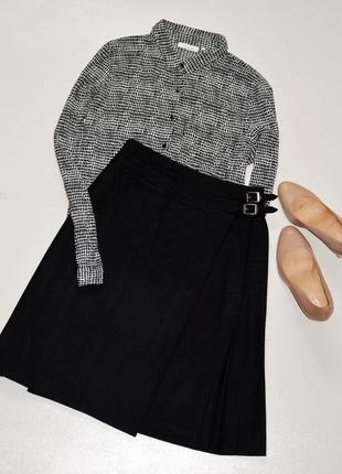 Next стильная юбка шотландка,а-силуэт,шерсть