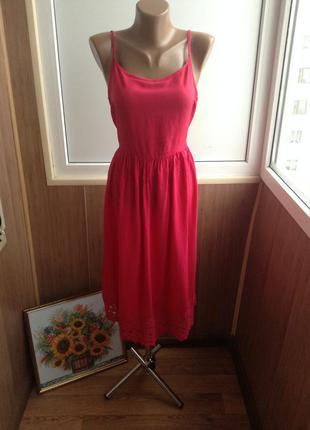 Платье / сарафан с кружевом снизу