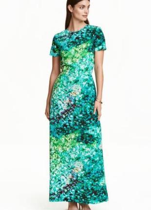 Шикарное длинное шёлковое платье h&m