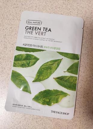 Тканевая маска the face shop real nature mask sheet green tea