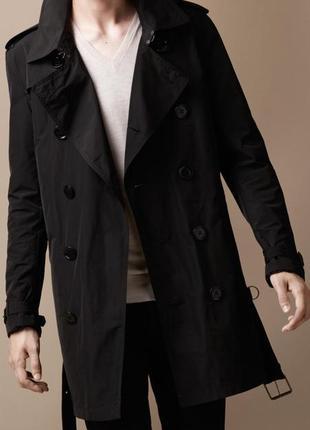 Оригинальный тренч пальто burberry brit men's black packaway showerproof trench coat
