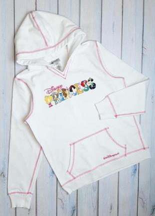 💥1+1=3 женский белый свитшот свитер disney с принцессами, размер 44 - 46