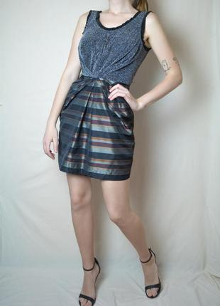 Красивое платье люрекс h&m праздничное яркое красочное новогоднее мини скидки 1+1=3
