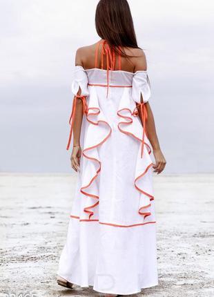 Дизайнерское льняное платье