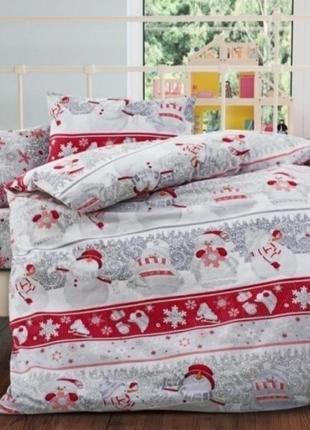Шикарное новогоднее постельное белье, турция ранфорс, 100% хлопок.