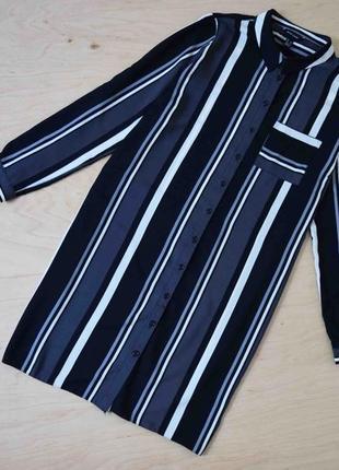 Стильное  платье  рубашка  в полоску большого размера  new look