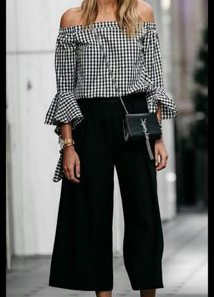 Стильные брюки кюлоты topshop 12-14 размер