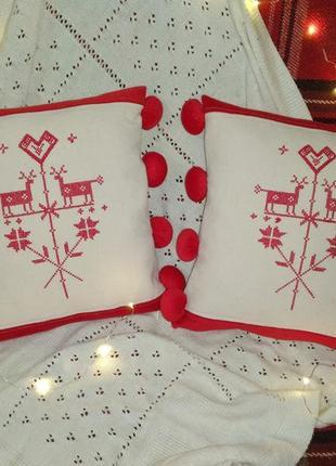 Комплект новогодних подушек