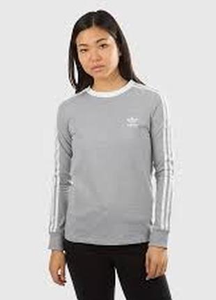 Улётный лонгслив (кофта) от adidas women's 3-stripes long sleeve tee (grey)