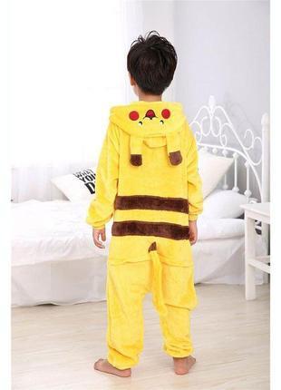 Кигуруми пикачу, пижама, домашний костюм р.98-175.