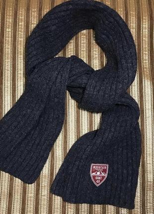 Шарф gant шерстяной, плотный wool/lambs wool