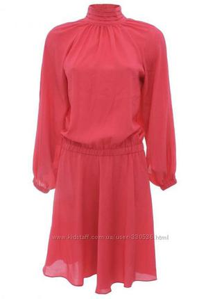 Летнее платье oodji  кораллового цвета